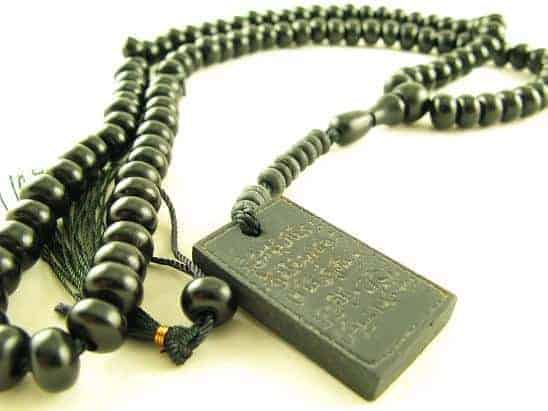 rosary made from wood for meditation